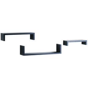 """Knape & Vogt 3-Piece Ledge Set, 4"""" Deep, Black Finish"""