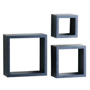 """Knape & Vogt 3-Piece Shadow Box Set, 4"""" Deep, Black Finish"""
