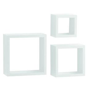 """Knape & Vogt 3-Piece Shadow Box Set, 4"""" Deep, White Finish"""