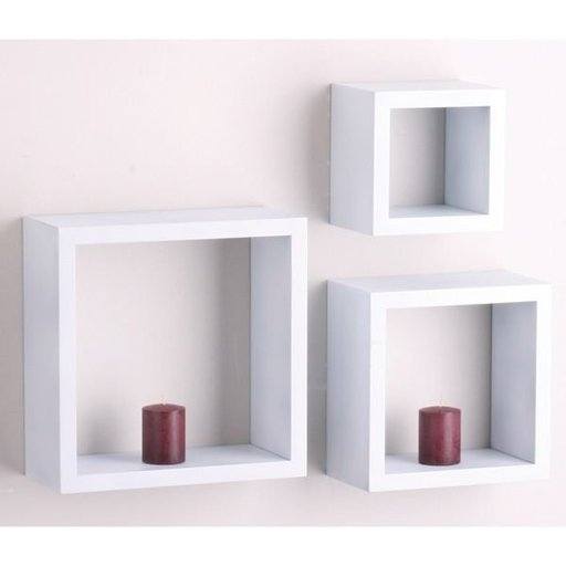 "View a Larger Image of Knape & Vogt 3-Piece Shadow Box Set, 4"" Deep, White Finish"