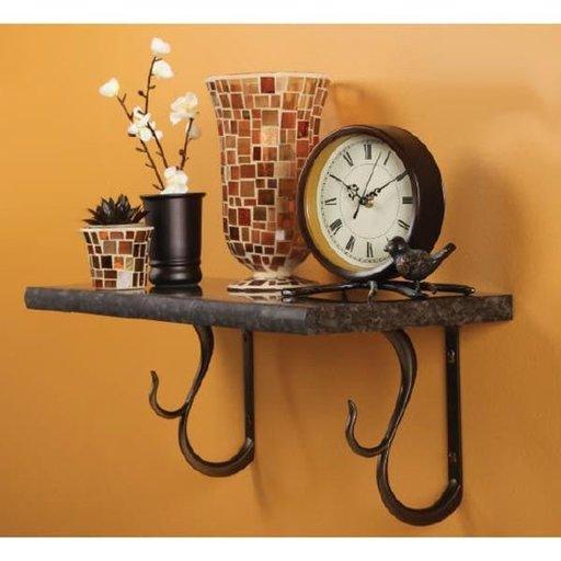 View a Larger Image of Knape & Vogt Baton Rouge Designer Shelf Bracket, Antique Bronze Finish