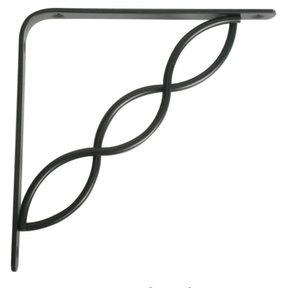 """Knape & Vogt Concord Designer Shelf Bracket, 8"""", Black Finish"""