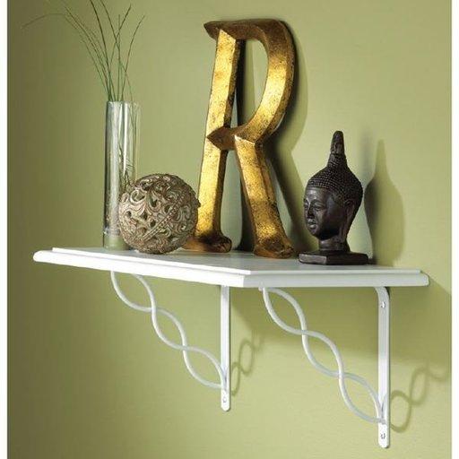 """View a Larger Image of Knape & Vogt Concord Designer Shelf Bracket, 8"""", Satin Nickel Finish"""