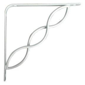 "Knape & Vogt Concord Designer Shelf Bracket, 8"", White Finish"