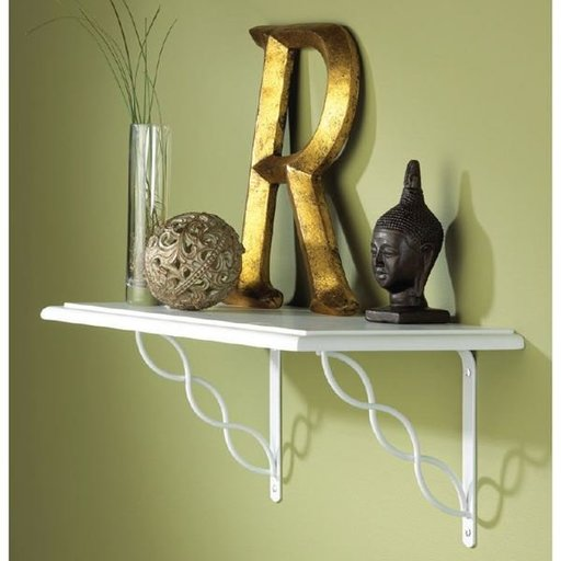"""View a Larger Image of Knape & Vogt Concord Designer Shelf Bracket, 8"""", White Finish"""
