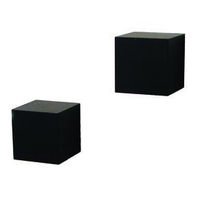 Knape & Vogt Decorative Wall Cubes, 1 Pair, Black Finish