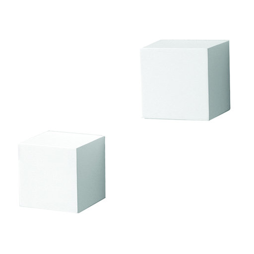 View a Larger Image of Knape & Vogt Decorative Wall Cubes, 1 Pair, White Finish