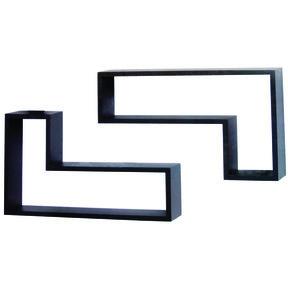 Knape & Vogt L-Shaped Shelf Set, Black Finish