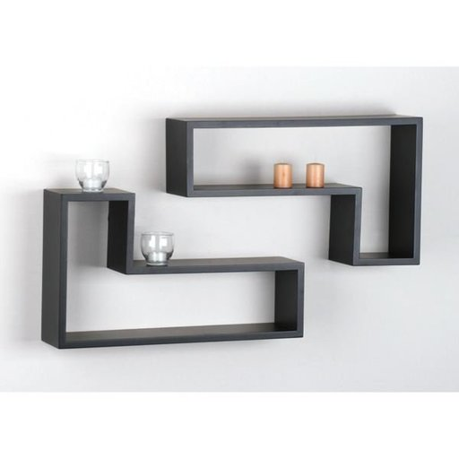 View a Larger Image of Knape & Vogt L-Shaped Shelf Set, Black Finish