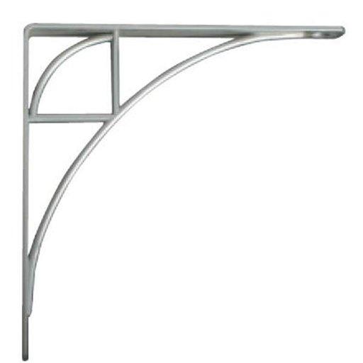 View a Larger Image of Knape & Vogt Oak Park Designer Shelf Bracket, Satin Nickel Finish