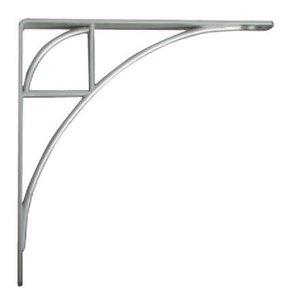 Knape & Vogt Oak Park Designer Shelf Bracket, Satin Nickel Finish