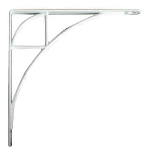 View a Larger Image of Knape & Vogt Oak Park Designer Shelf Bracket, White Finish