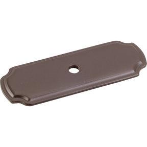 """Knob, Backplate, 2-13/16"""" O.L., Dark Bronze"""