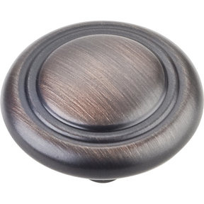 """Knobs 1-1/4"""" Dia 10-pack, Brushed Oil Rubbed Bronze"""
