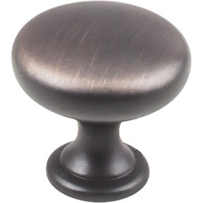 """Knobs  1-3/16"""" Dia  10-pack, Brushed Oil Rubbed Bronze"""