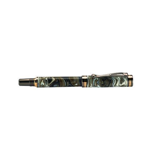 View a Larger Image of Kojent Fountain Pen Kit Cobalt Gold & Gunmetal