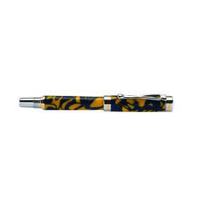 Kojent Rollerball Pen Kit Cobalt Gold & Chrome
