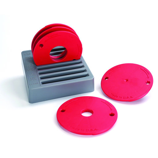 View a Larger Image of Level-Loc Router Table Insert Ring Set - 5 Piece