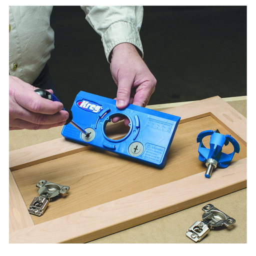 View a Larger Image of Concealed Hinge Drilling Jig