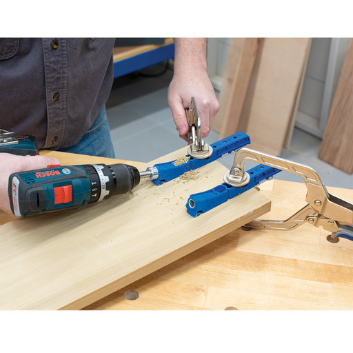 View a Larger Image of Double Drill Guide 320 Pocket-Hole Jig