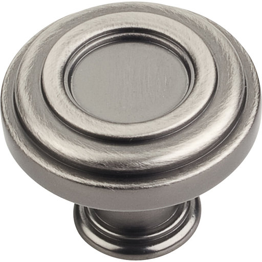 """View a Larger Image of Lafayette Knob, 1-3/8"""" Dia.,  Brushed Pewter"""