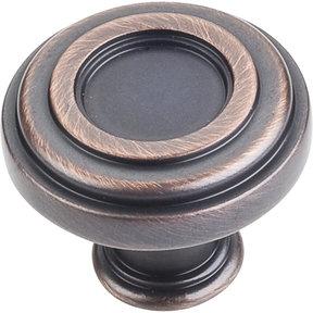 "Lafayette Knob, 1-3/8"" Dia.,  Brushed Oil Rubbed Bronze"