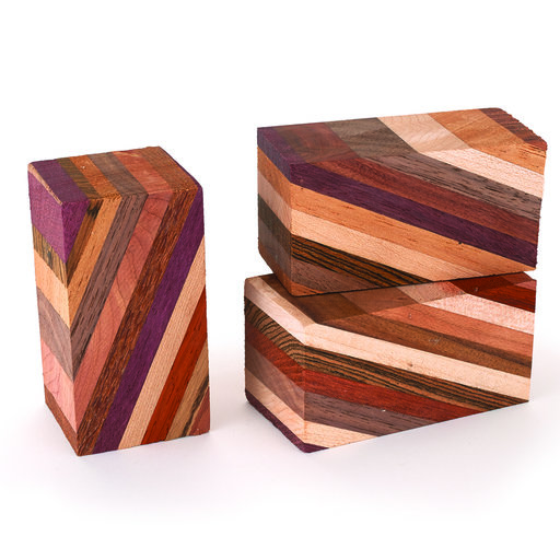 """View a Larger Image of Laminated 1-1/2"""" x 1-1/2"""" x 3"""" Wood Turning Stock Blank"""