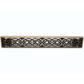 Large Celtic Style Pull, Brass Oxide