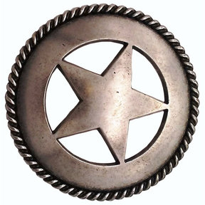 Large Star with Rope Pull, Old Silver