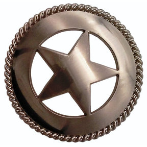 Large Star with Rope Pull, Satin Nickel