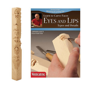 Learn to Carve Faces Eyes and Lips Study Stick