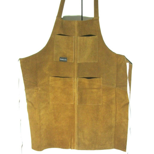 View a Larger Image of Leather Apron, 4 Pocket