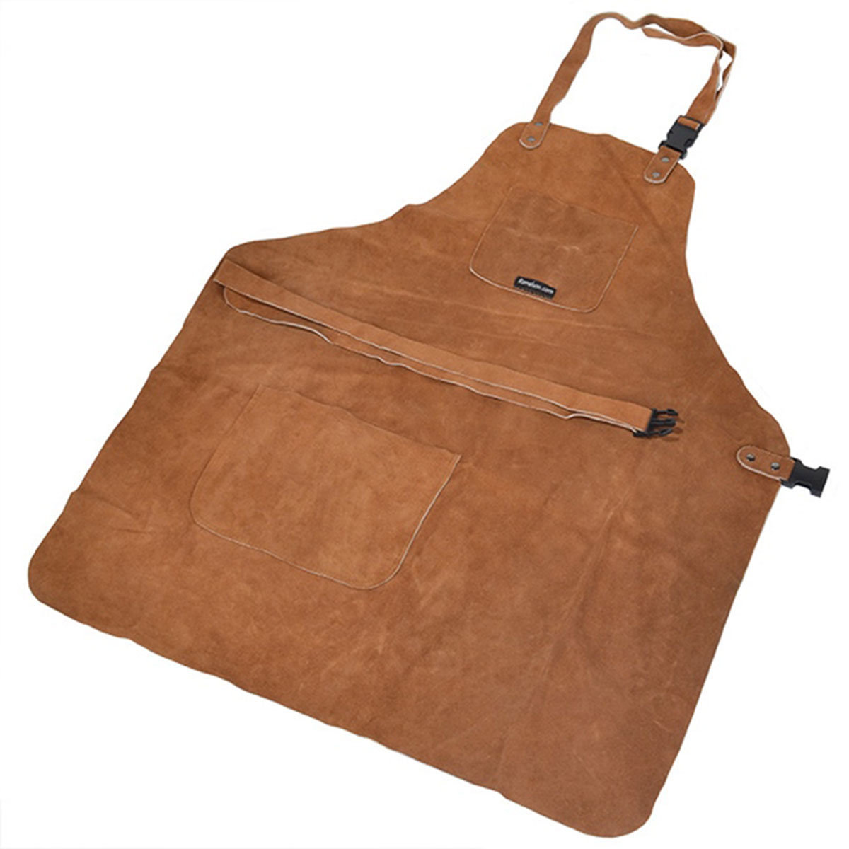 View a Larger Image of Suede/Leather Apron, 3 Pocket