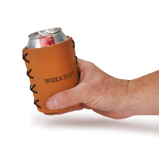 View a Larger Image of Leather Insulated Beverage Holder