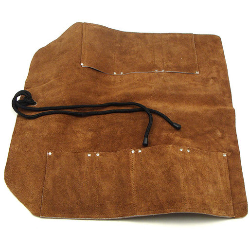 View a Larger Image of Leather Tool Roll, 7 Pocket