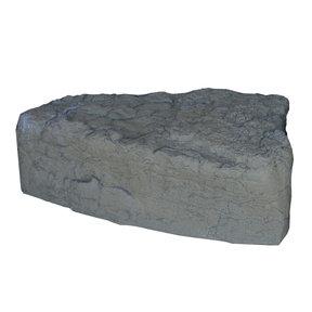 Left Triangle Landscape Rock, Grey