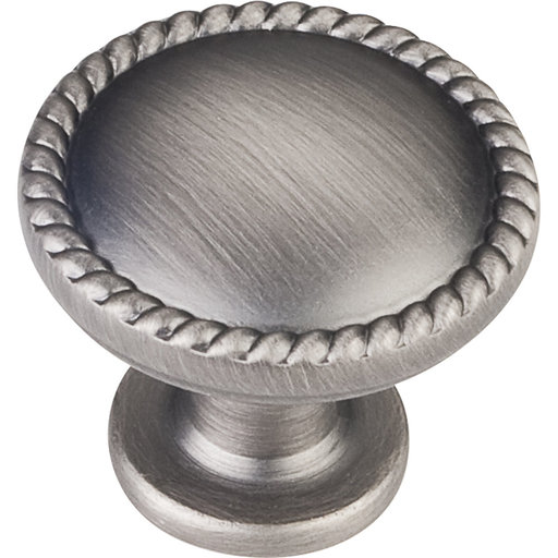 """View a Larger Image of Lindos Round Knob, 1-1/4"""" Dia.,  Brushed Pewter"""
