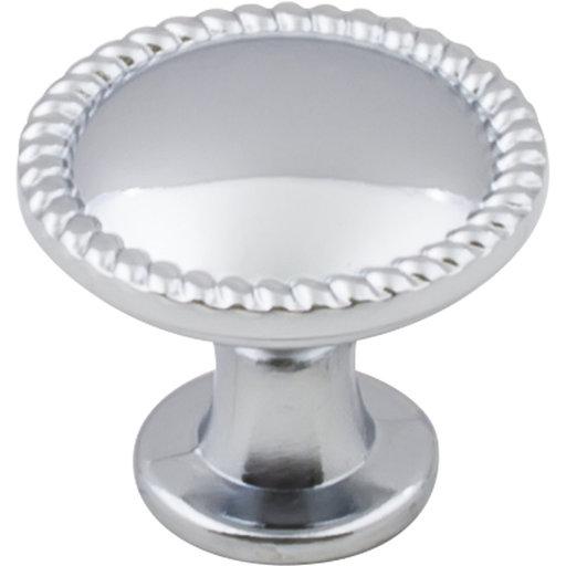 "View a Larger Image of Lindos Round Knob, 1-1/4"" Dia.,  Polished Chrome"