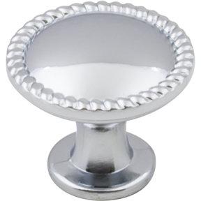 """Lindos Round Knob, 1-1/4"""" Dia.,  Polished Chrome"""