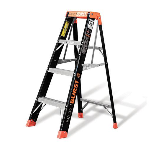 View a Larger Image of Little Giant MicroBurst Fiberglass Ladder 4'