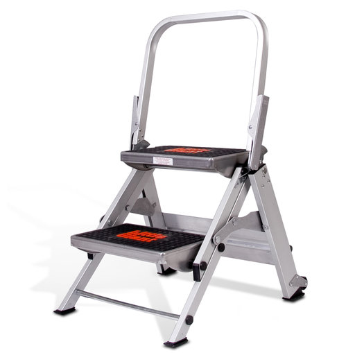 View a Larger Image of Safety Step Ladder - 2 Step