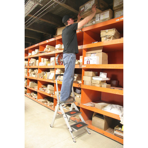 View a Larger Image of Safety Step Ladder - 3 Step