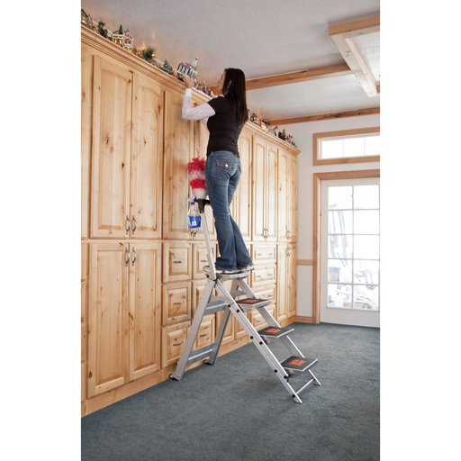 View a Larger Image of Safety Step Ladder - 4 Step