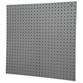"""LocBoard® 18""""W x 9/16""""D x 36""""H, 18G Steel Square Hole Pegboards - Gray"""