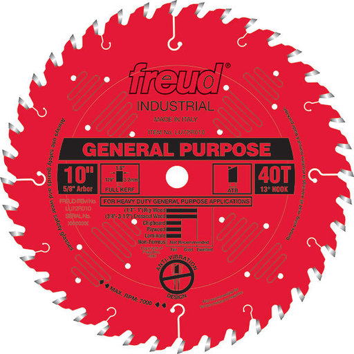 """View a Larger Image of LU72R010 General Purpose Saw Blade 10"""" x 5/8"""" bore x 40 Tooth Hi-ATB"""