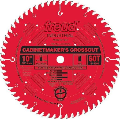 """View a Larger Image of LU73R010 Cabinetmaker's Crosscut Saw Blade 10"""" x 5/8"""" bore x 60 Tooth Hi-ATB"""