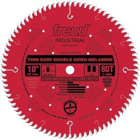 "LU96R010 Red Circular Saw Blade 10"" x 5/8"" Bore x 80 Tooth TCG Thin Kerf"
