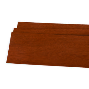 """Mahogany Wood Veneer - 1/16"""" Thick x 4-1/2"""" to 7-1/2"""" Width - 3 Square Foot Pack"""