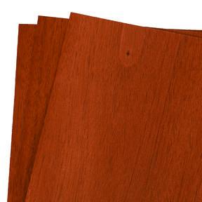 "Mahogany Wood Veneer Pack - 12"" x 12"" - 3 Piece"