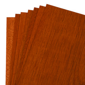 "Mahogany Wood Veneer Pack - 8"" x 8"" - 7 Piece"